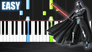 The Imperial March - Star Wars - EASY Piano Tutorial by PlutaX - Synthesia