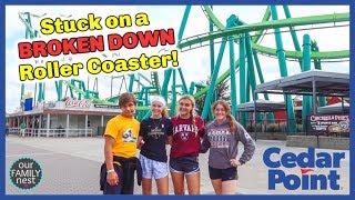 Stuck on a Broken Down Roller Coaster in the Rain!