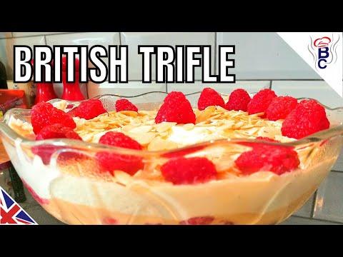BRITISH FOOD - British Trifle Recipe -  Mum's Special Recipe With Cream
