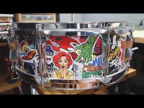 Sticker Bomb Snare Drum!