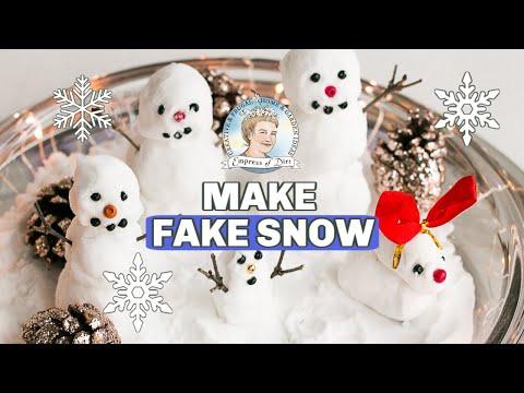 How to Make Fake Snow & Mini Snowman
