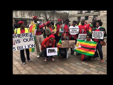 MDC-T UK & IRELAND PORTSMOUTH MUGABE MUST GO DEMO 11/03/2017