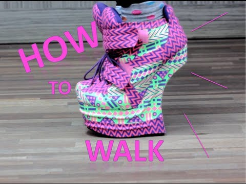 How to WALK/RUN in Heel less heels
