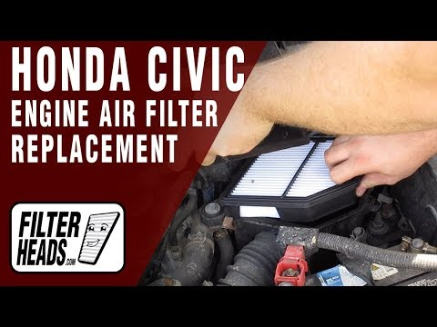 How to Replace Engine Air Filter 2008 Honda Civic L4 1.8L
