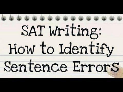18: SAT Writing: Identifying Sentence Errors