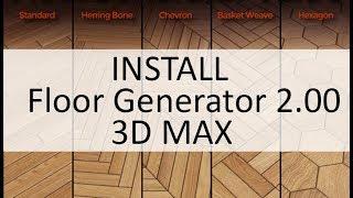 Hướng dẫn cài đặt Floor Generator 2 00 for 3dsmax Full - The Most
