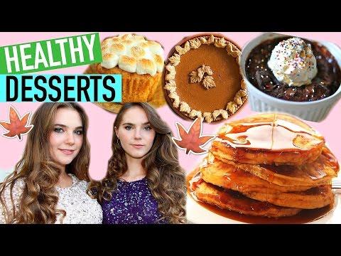5 HEALTHY FALL DESSERT RECIPES - Easy & Vegan