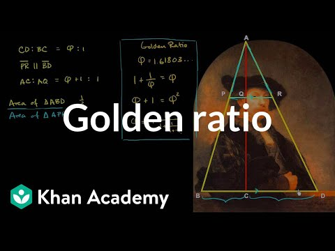 Golden ratio and Rembrandt's self portrait | Similarity | Geometry | Khan Academy
