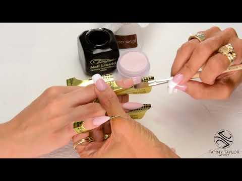 ❤ Chit Chat  Long High Arch Almond Nail Tutorial   Tammy Taylor