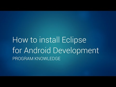 How to install Eclipse for Android Development