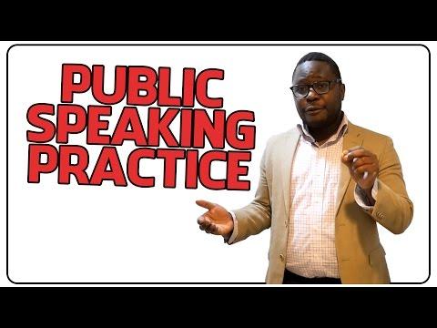 How to Practice Public Speaking