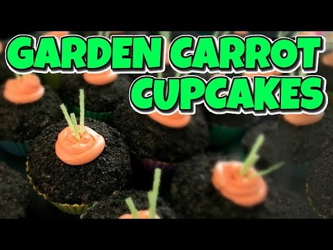 How To Make Garden Carrot Cupcakes | I Am Kristin 📍
