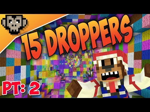 15 Droppers Part Two | I HATE The Map Maker | Minecraft Custom Map