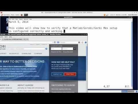 Verify that Matlab and Gurobi Mex work