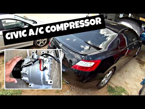 How to remove and replace A/C Compressor on Honda Civic 2006 2011