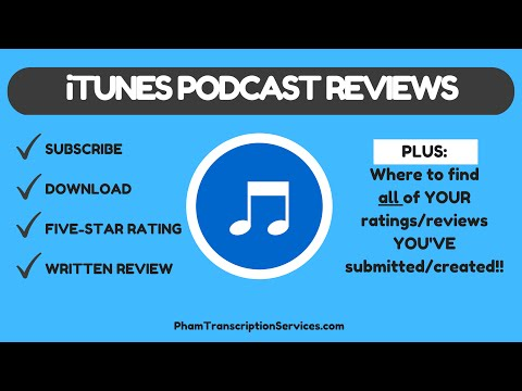 Itunes Podcast Ratings / Reviews - one location - where to find - plus subscribe & download settings