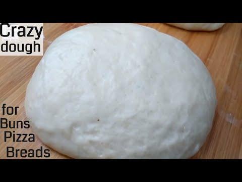 How to Make Pizza Dough at Home | Crazy dough for various breads | Bread dough recipe
