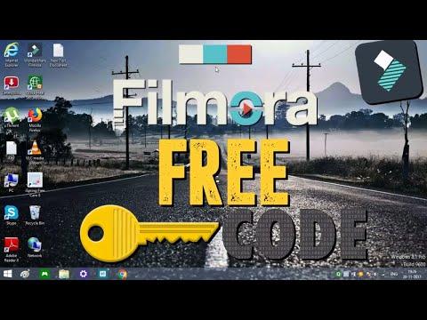 How To Register Filmora For Free 100% Working Wondershare Filmora Free Key Code remove watermark