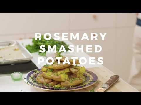 Your New Favorite Veggie Side: Rosemary Smashed Potatoes