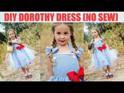 DIY No Sew Dorothy Dress - Wizard of Oz