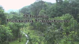Best 9 hr Rainstorm with Rolling Thunder nature sounds hd