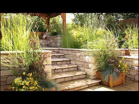 Garden Stairs Design Ideas 2018 | DIY Wood Backyard Vegetables Cottage Courtyard Landscaping Tour