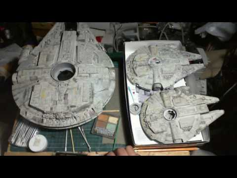 Milleneum Falcon Builds - Weathering 1/72 & 1/144 Fine Molds and 1/144 Bandi