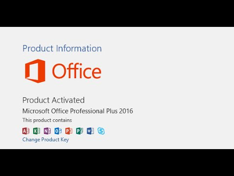 How To Activate Microsoft Office 2016 For Free