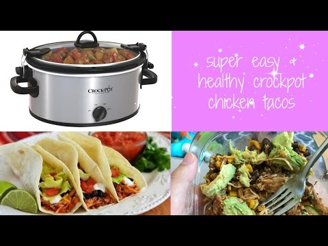 COOK WITH ME // easy crockpot chicken taco (healthy & gluten free)