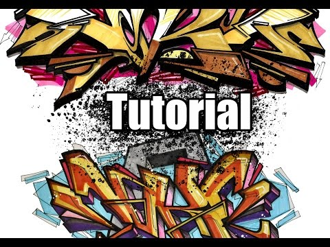 Tutorial - How to make Graffiti sketches - Step by step !