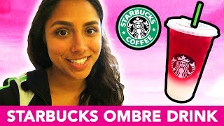 STARBUCKS OMBRE PINK DRINK TASTE TEST! 💕