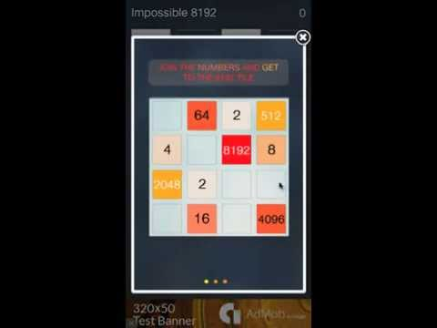 Impossible 8192 Math Strategy Puzzle App Demo – 4x better than 2048