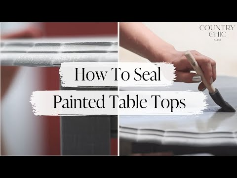 How To Finish Painted Table Tops | Varnish / Tough Coat Tutorial