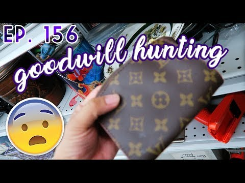DID I FIND A LOUIS VUITTON POUCH?!? - GOODWILL HUNTING EP. 156