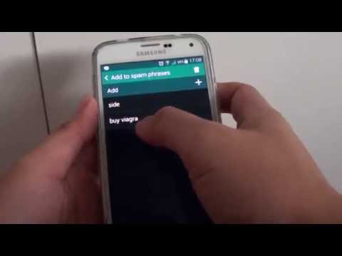 Samsung Galaxy S5: How to Block Spam Text Messages Using Text Phrases