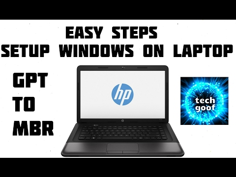 Setup Windows On Laptop || GPT to MBR Partition || Full walkthrough