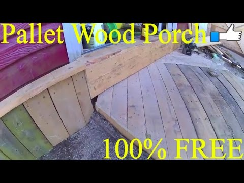 PALLET WOOD SHED PORCH 100% FREE