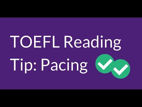TOEFL Reading Tip: Pacing