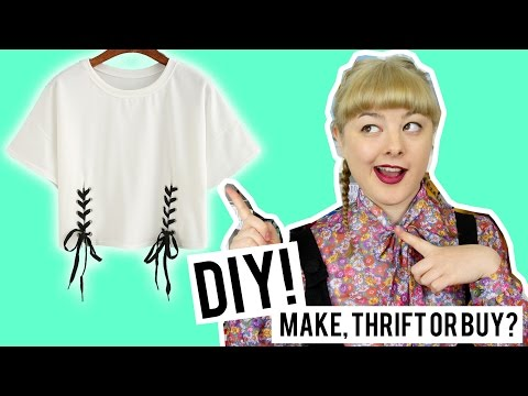DIY Lace Up Top | Make Thrift Buy #40