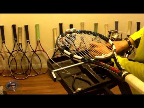Tennis Racquet Stringing - How to String - Prince Neos - Full Racquet