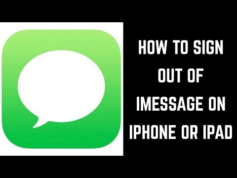 How to Sign Out of iMessage on iPhone or iPad