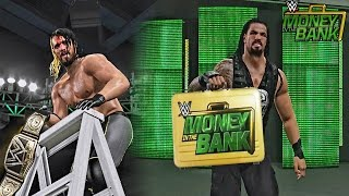 WWE 2K15 Money in The Bank 2015 - Seth Rollins Retains WWE Title & Roman Reigns Cashes in MITB!