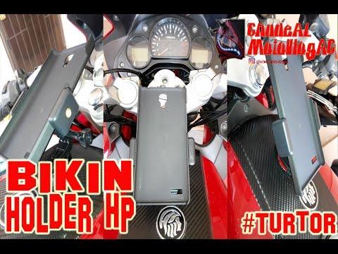 #7 Bikin Holder Hp di tangki motor | Turtor | ChudeAL MotoVlogAC.