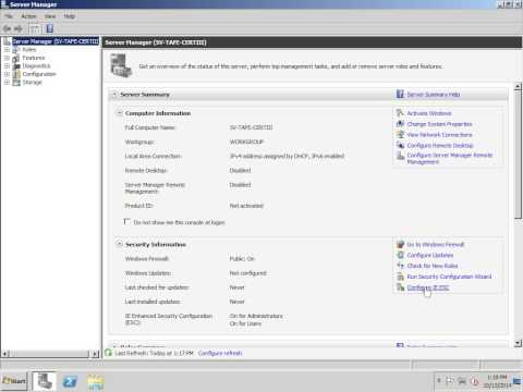 Windows Server 2008 R2 Disable Internet Explorer Enhanced security Mode