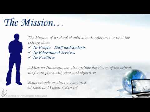 How to write School Mission Statements