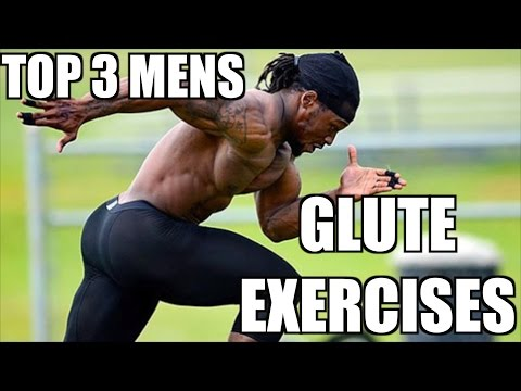 Top 3 Strength and Physique Glute Exercises for Men (Mens booty Work)