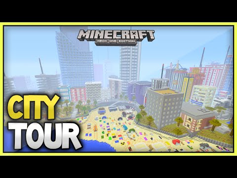 Minecraft Xbox Subscriber City Tour [9] - Holiday City Part 1