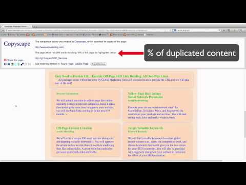 How To Check For Duplicated Content Using Copyscape