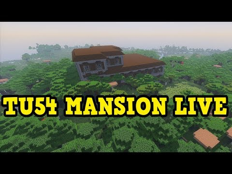Minecraft PS4 / Xbox TU54 Woodland Mansion LIVE FIRST Attempt