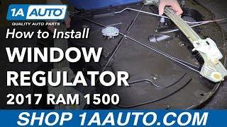 How to Remove Rear Window Regulator 2017 Ram 1500